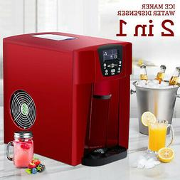 Electric 2 in 1 Countertop Ice Maker Machine  Compact Water