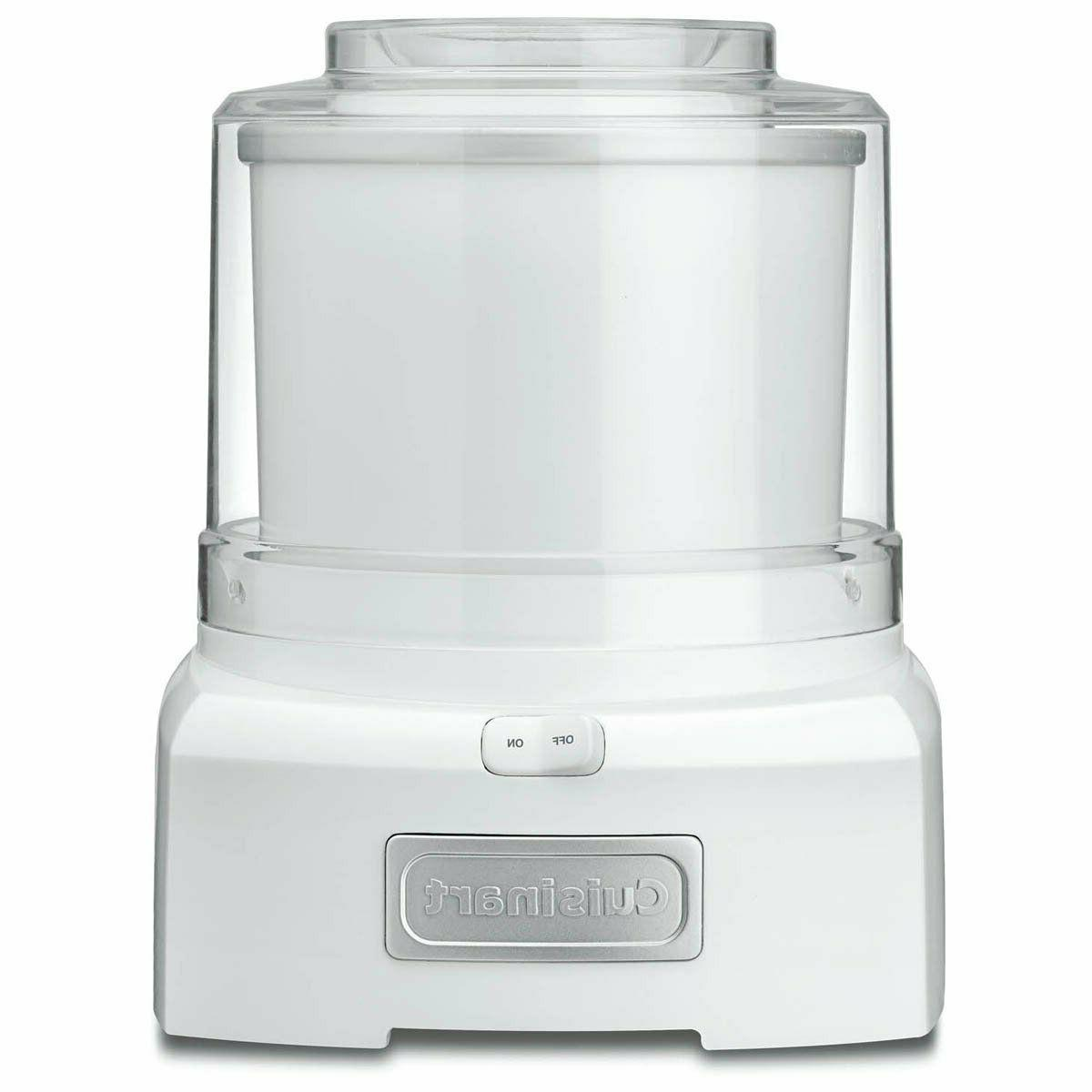 New 1.5 Quart Ice Cream/Yogurt Makers Frozen Yogurt, White