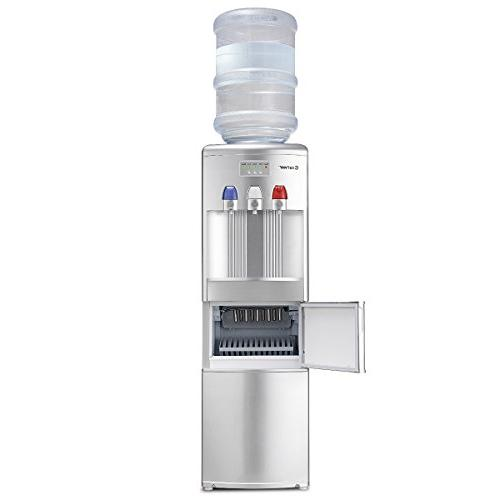 Costway Water Dispenser with Built-in Ice Maker Hot 27LB/24H Child Silver