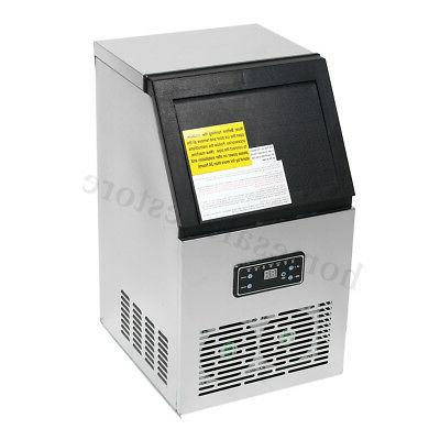 110LBs Ice Machine Stainless Steel Restaurant