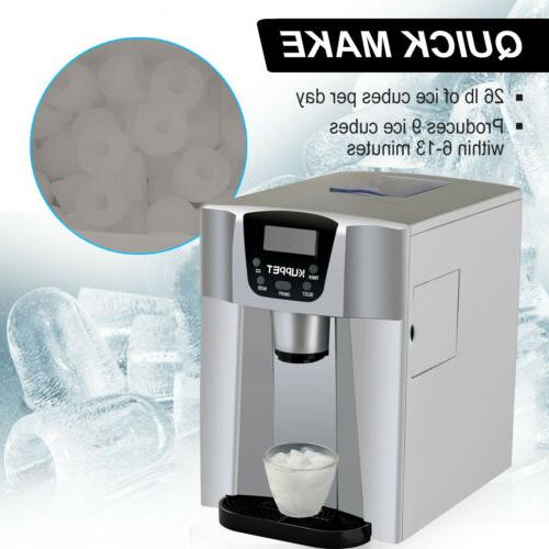 2 in 1 Ice Maker Compact Countertop Water Machine Silver