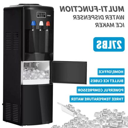 2in1 Electric Hot Cold Water Dispenser w/ Ice Maker Machine