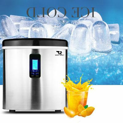 3.2L Stainless Steel Countertop Ice Compact Cube IceMaker 33lbs/da
