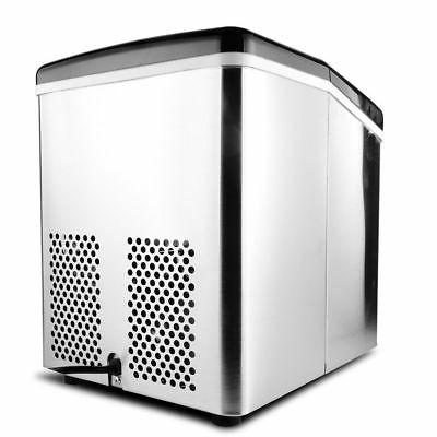 3.2L Steel Countertop Ice IceMaker 33lb/day