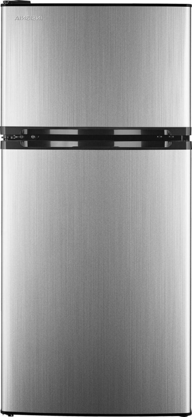 Insignia- 4.3 Cu. Ft. Top-Freezer Refrigerator - Stainless s