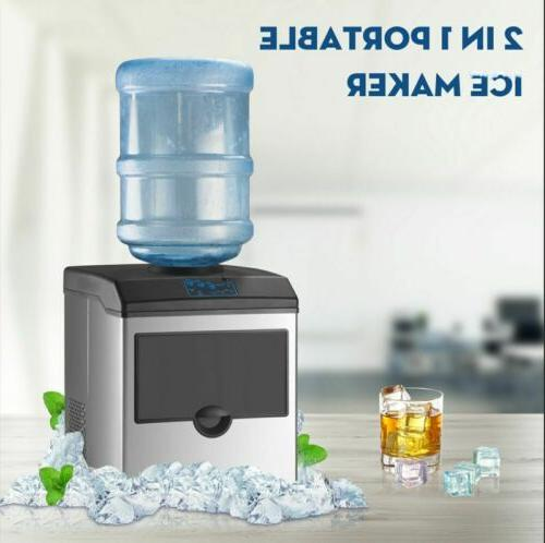 2in1 Built-In Electric Ice Maker Machine Water Dispenser Cou