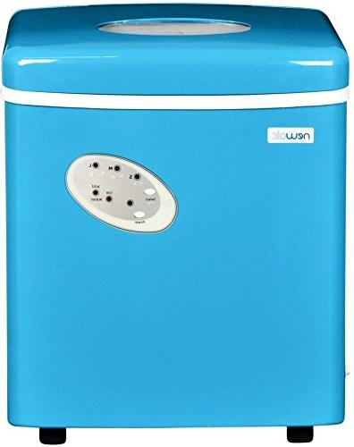 Blue Countertop Portable Ice Machine