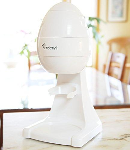 Ivation IS80 Electric Shaver, Cone Shaved Ice Ice Snow Shaver,
