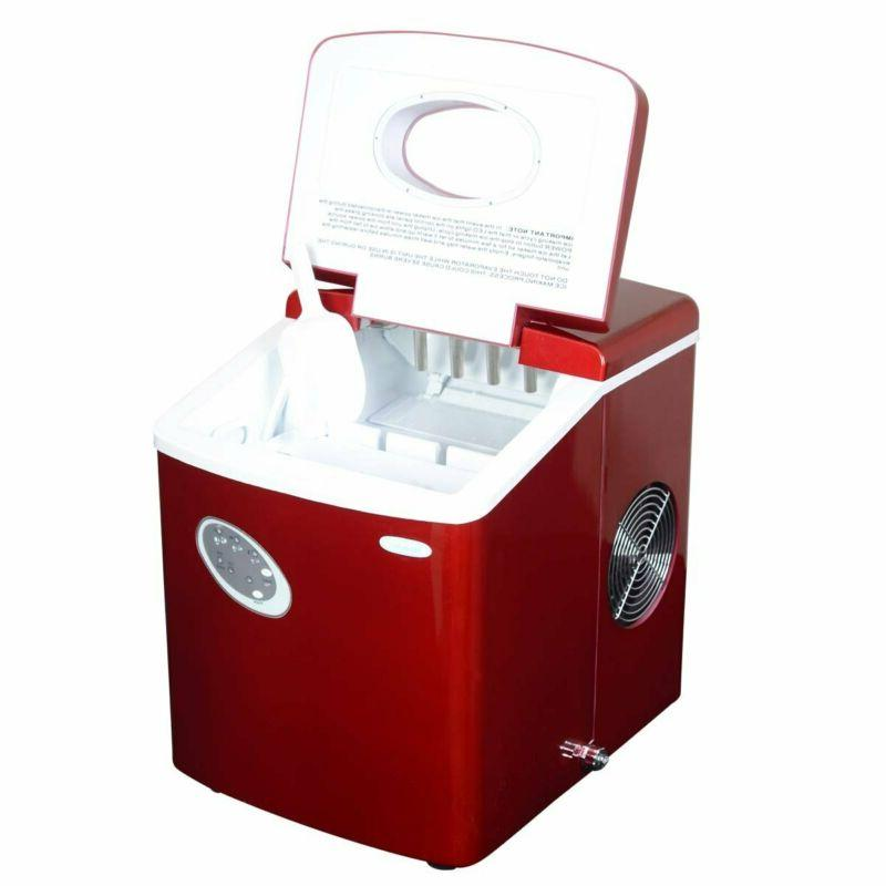 NewAir Portable Icemaker, Red