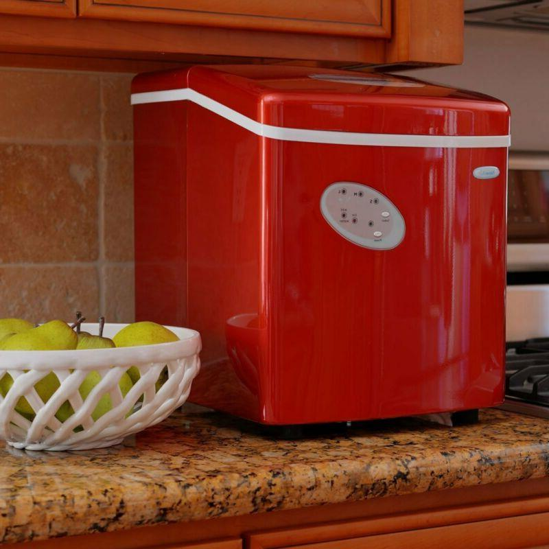 NewAir 28-Pound Icemaker, Red