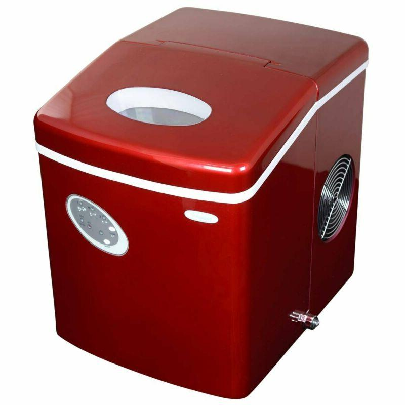 ai 100r 28 pound portable icemaker red