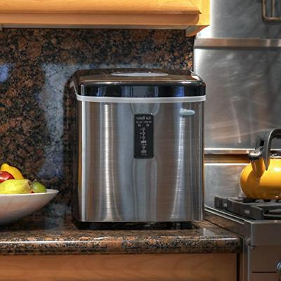 NewAir AI-100SS 28-Pound Portable Ice Maker, Stainless