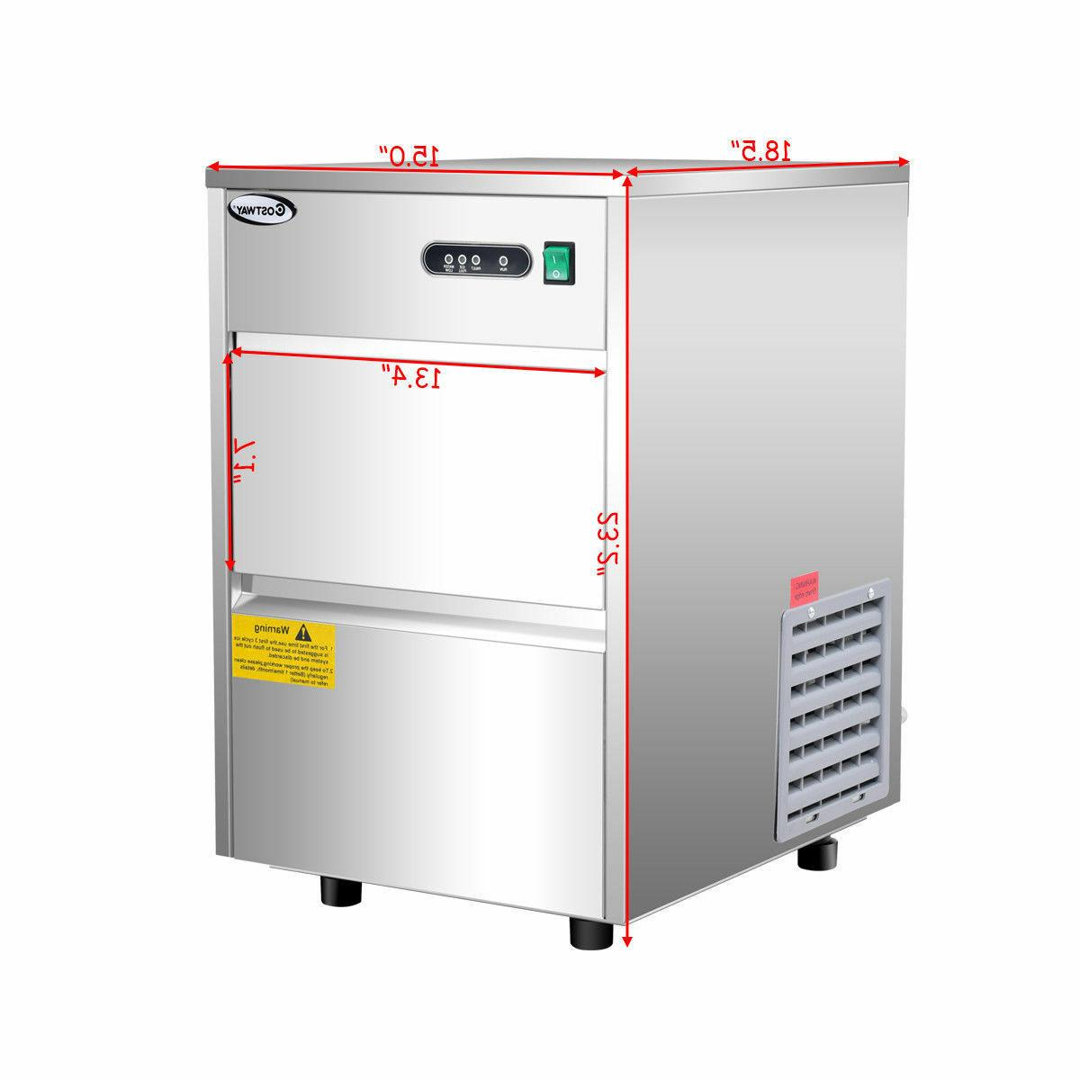 Costway Automatic Ice Stainless Steel Commercial Ho