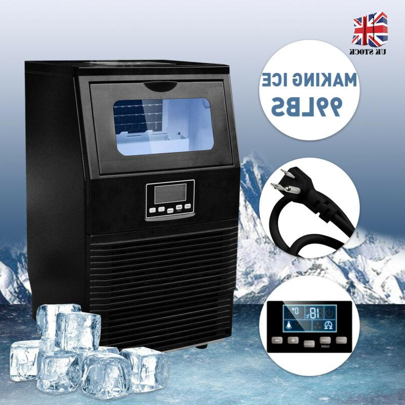 black 99lbs commercial ice maker machines cube