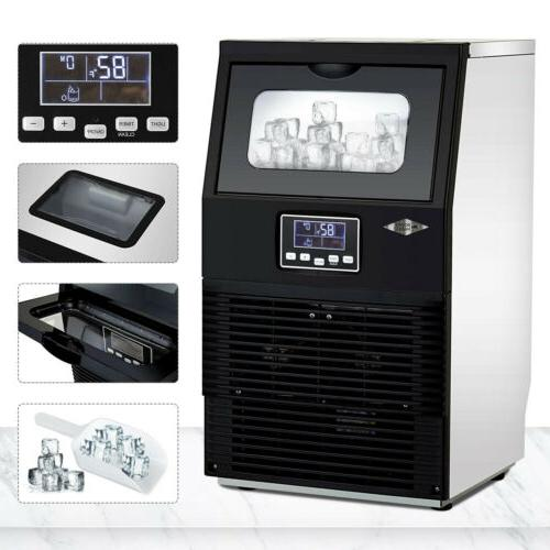 88 LBS Built-In Commercial Ice Maker Freestand Under Counter