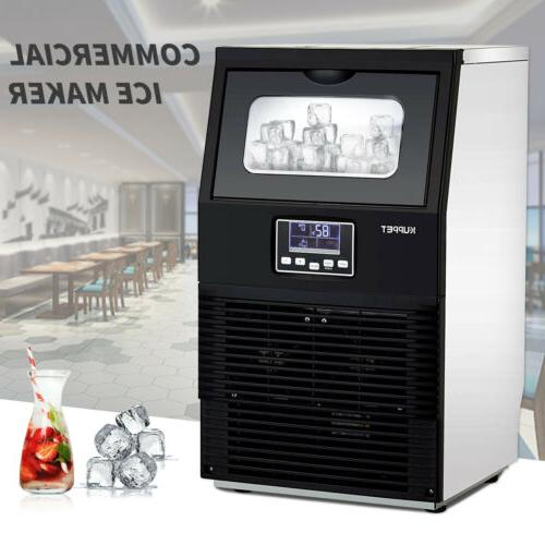 Commercial Steel Stainless Ice Maker Auto Built-in Ice Cube