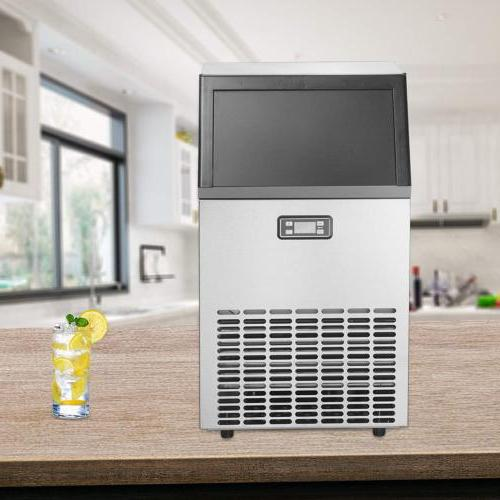 Built-in Commercial Ice Maker Stainless Restaurant Cube Machine