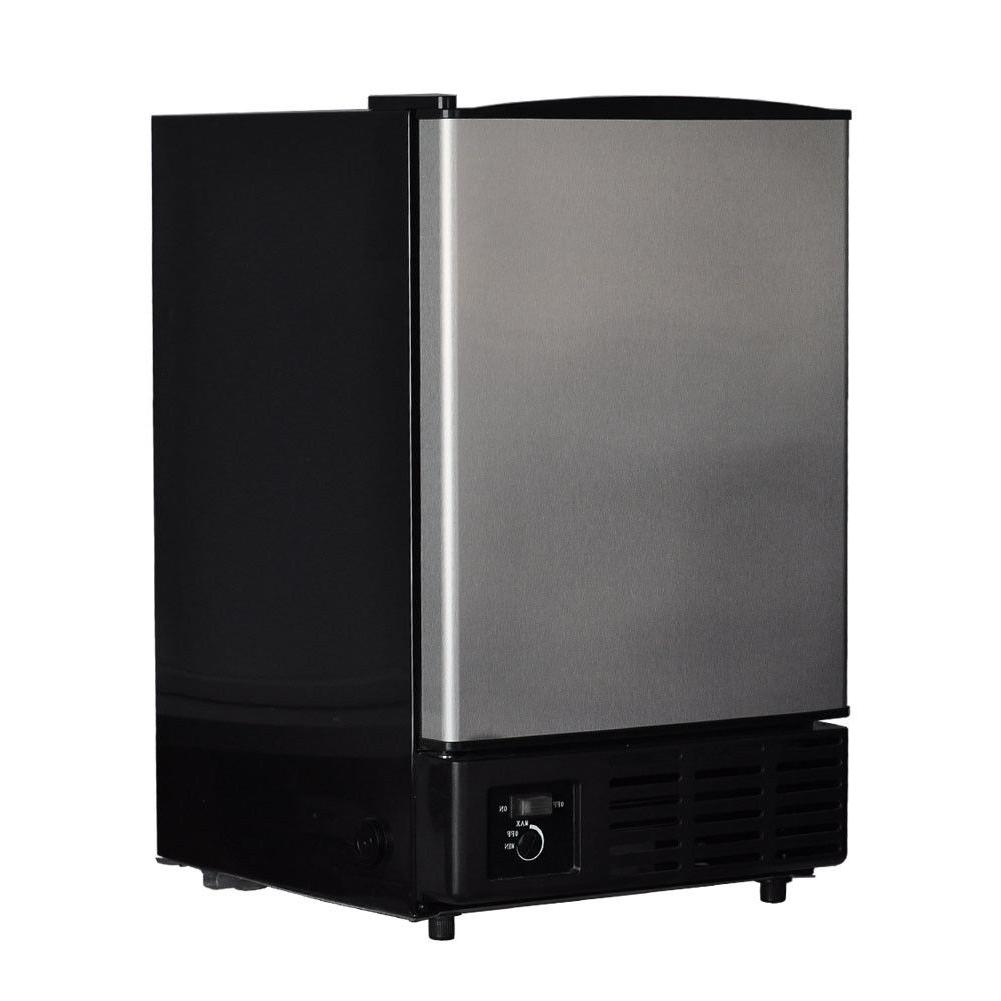 SMAD Undercounter Freestanding Ice Maker Stainless Steel