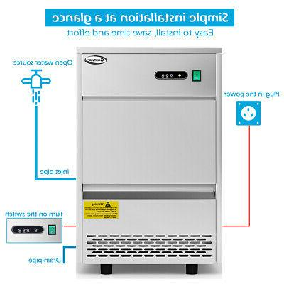Commercial Machine Stainless Freestanding