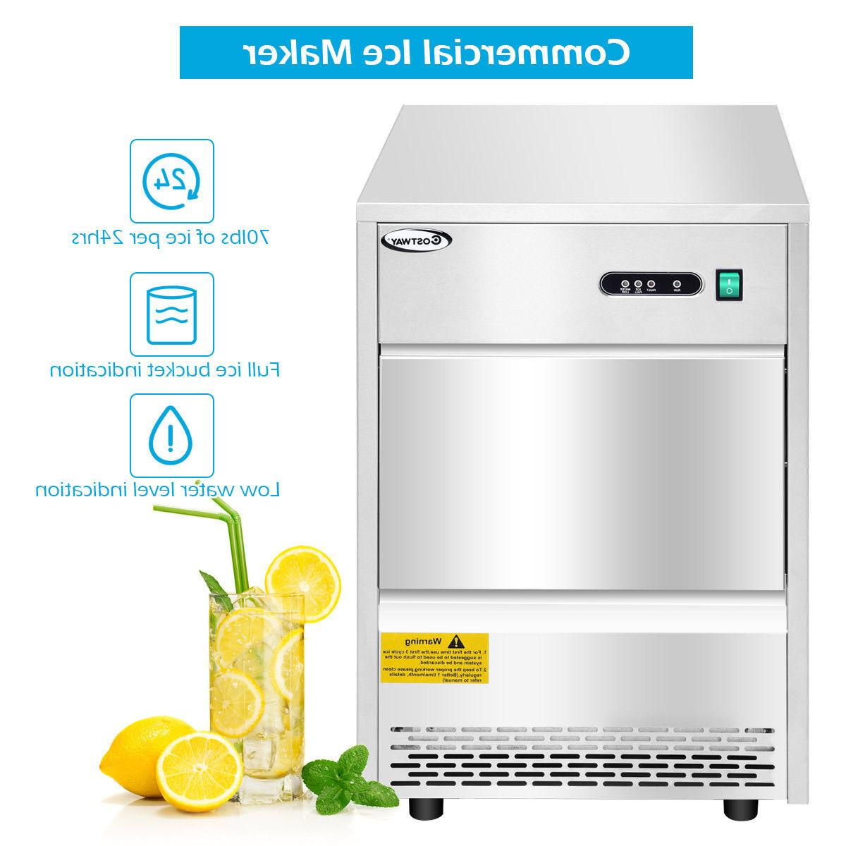 Commercial Automatic Ice Machine Freestanding