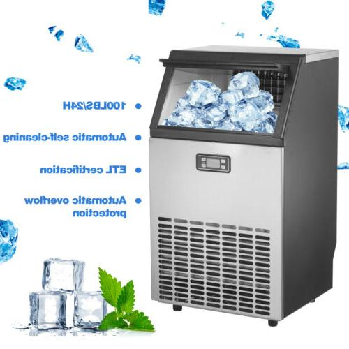 built in commercial ice maker stainless steel