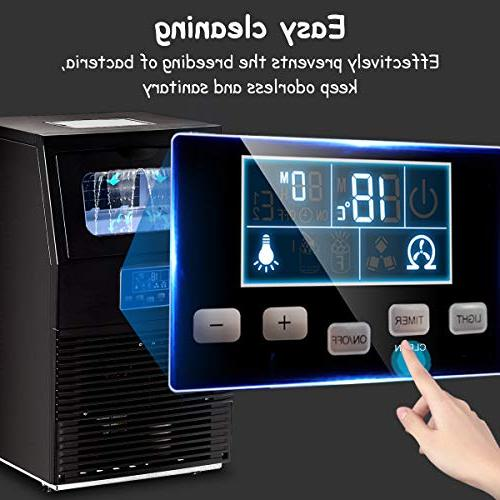 88 Freestanding Ice Machine Home Cafes Bars Restaurants Snack Bars Black