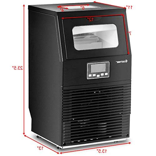 Costway Commercial 88 Automatic Freestanding Machine for Home Cafes Bakeries Snack Bars Black