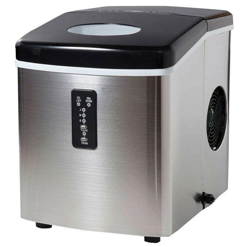 SMAD Stainless Steel Ice Maker Fridge Portable Ice Cube Comp