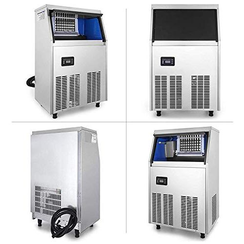 VEVOR Commercial Ice Maker Stainless Automatic Ice Built-In Auto Supermarkets