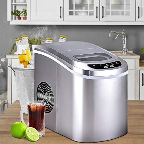 Costway Counter Ice Maker Machine Electric High Cube of per hours with Ice