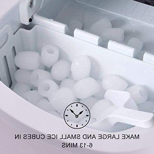 Costway Maker Portable Electric Efficiency Ice Machine Cube of Ice per 24 with Ice