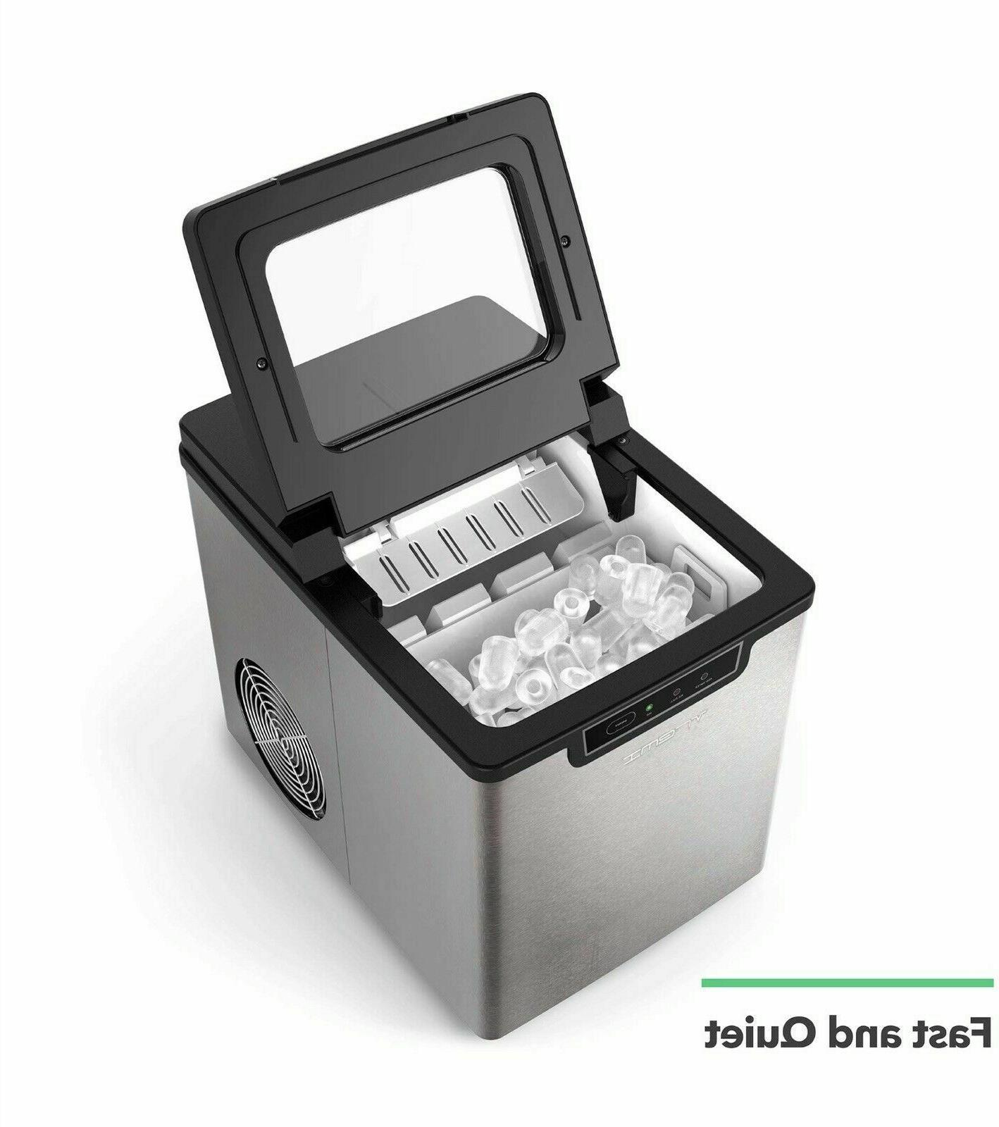 countertop ice maker ice cubes ready in
