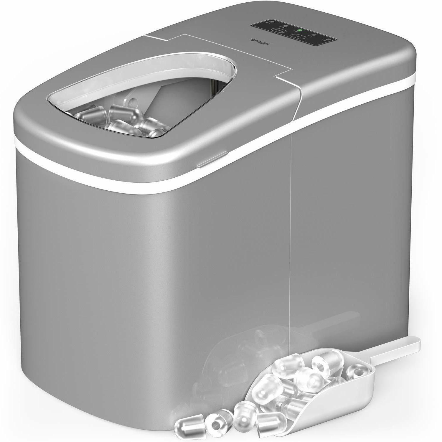 countertop portable ice maker makes 26 lbs