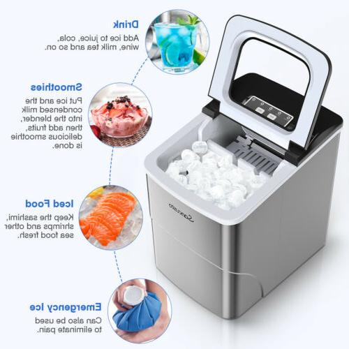 Portable Ice Maker Electric Ice Cubes 2L 26 Lb/Day