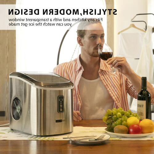 VIVOHOME Electric Cube Maker Countertop Compact Stainless Steel lbs.