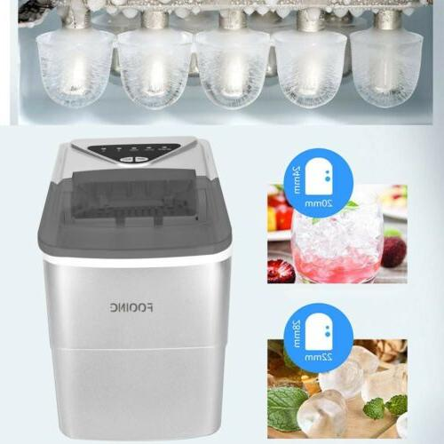 Electric Portable Ice Maker 26lbs/Day Compact Ice Cube Machi