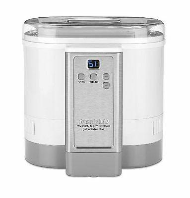 Cuisinart YOGURT MAKER, 50 Ounce Stainless MACHINE, White