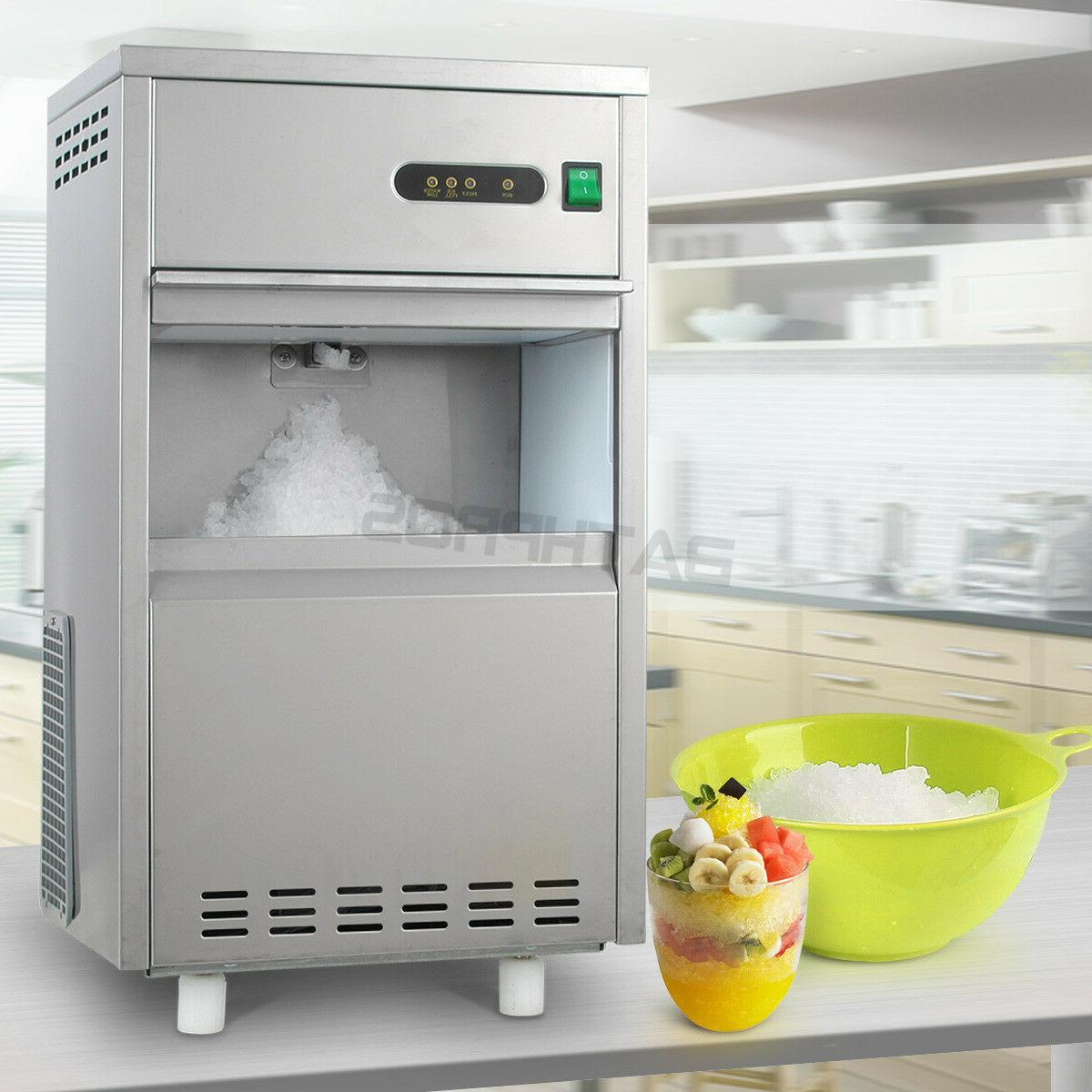 Flake Snow Countertop 44LBS Automatic Crusher Ice Maker Mach