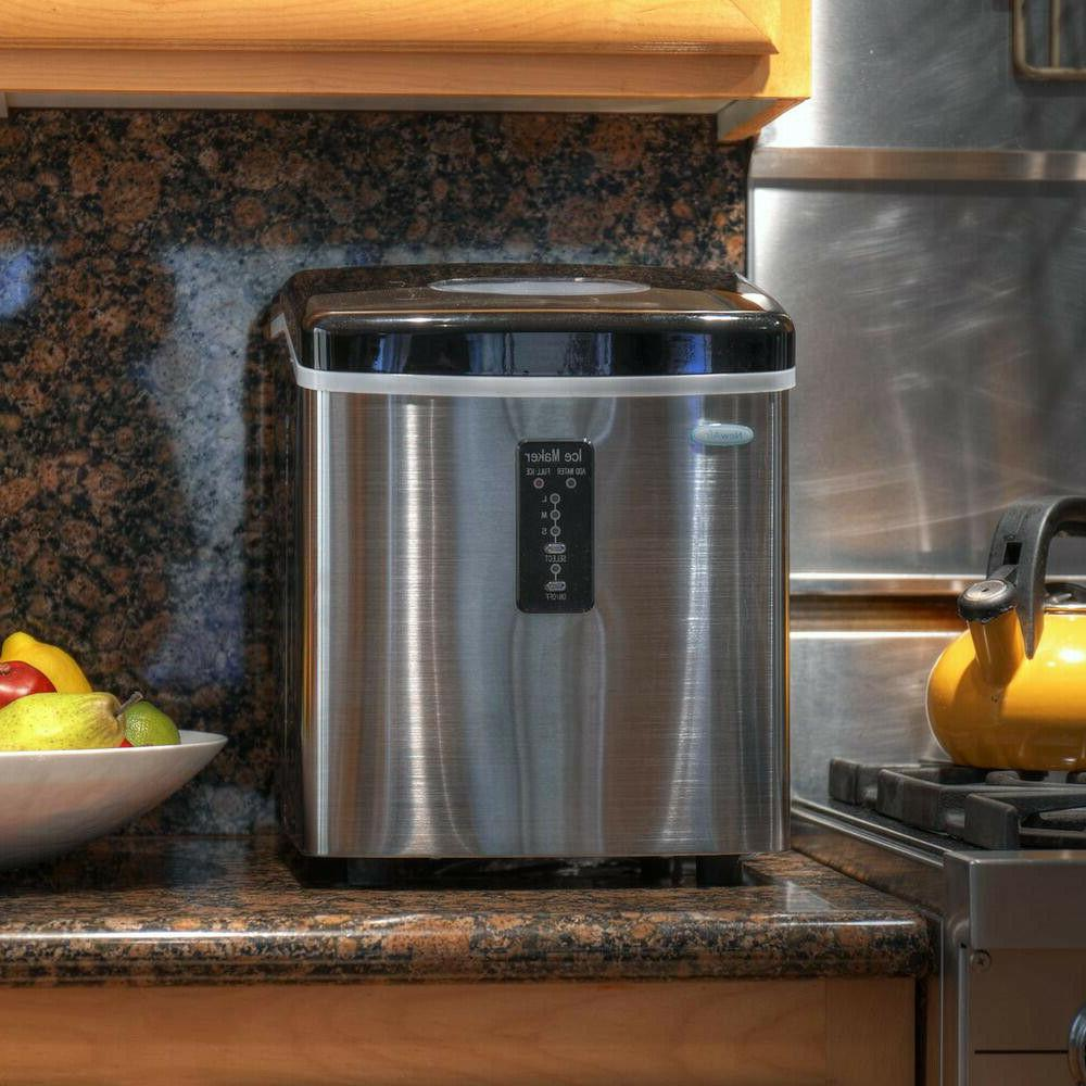 Freestanding Ice Maker Stainless Steel Small Kitchen Appliances
