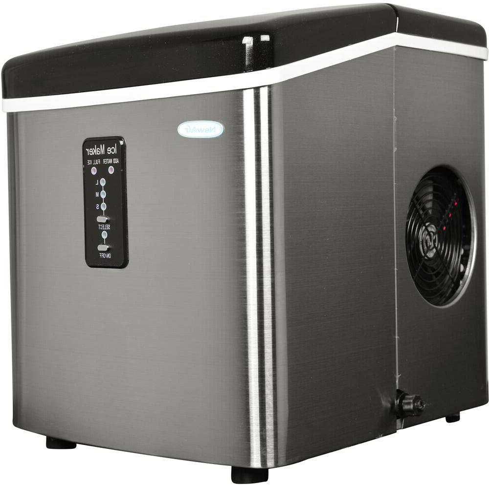 freestanding ice maker portable stainless steel small