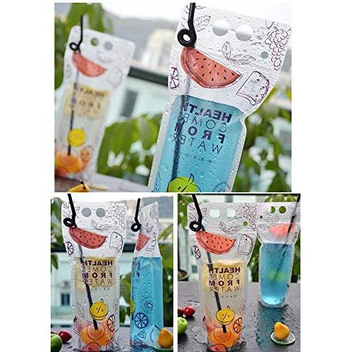 Fruit - Transparent Self Plastic Beverage Container Drinking Juice Food - Pitcher Lemon 100% Glass Suckers Boxes