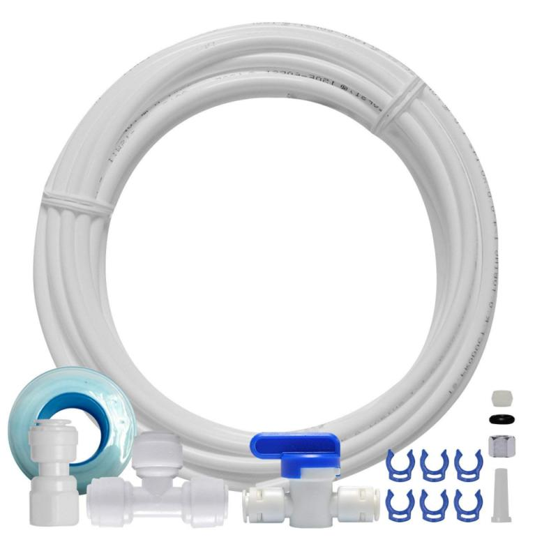 "FS-TFC Ice Maker Line and Refrigerator Water Water Line Kit for Osmosis & Filters, 1/4"" with Push-In Compression"