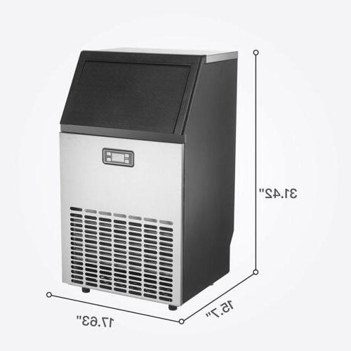 Commercial Built-in Ice Bar Ice Machine Stainless
