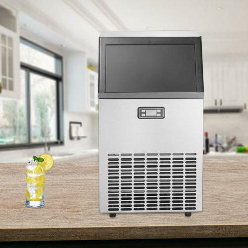 Commercial Ice Maker Steel Ice Cube Built-in