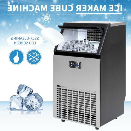 commercial built in ice maker stainless steel