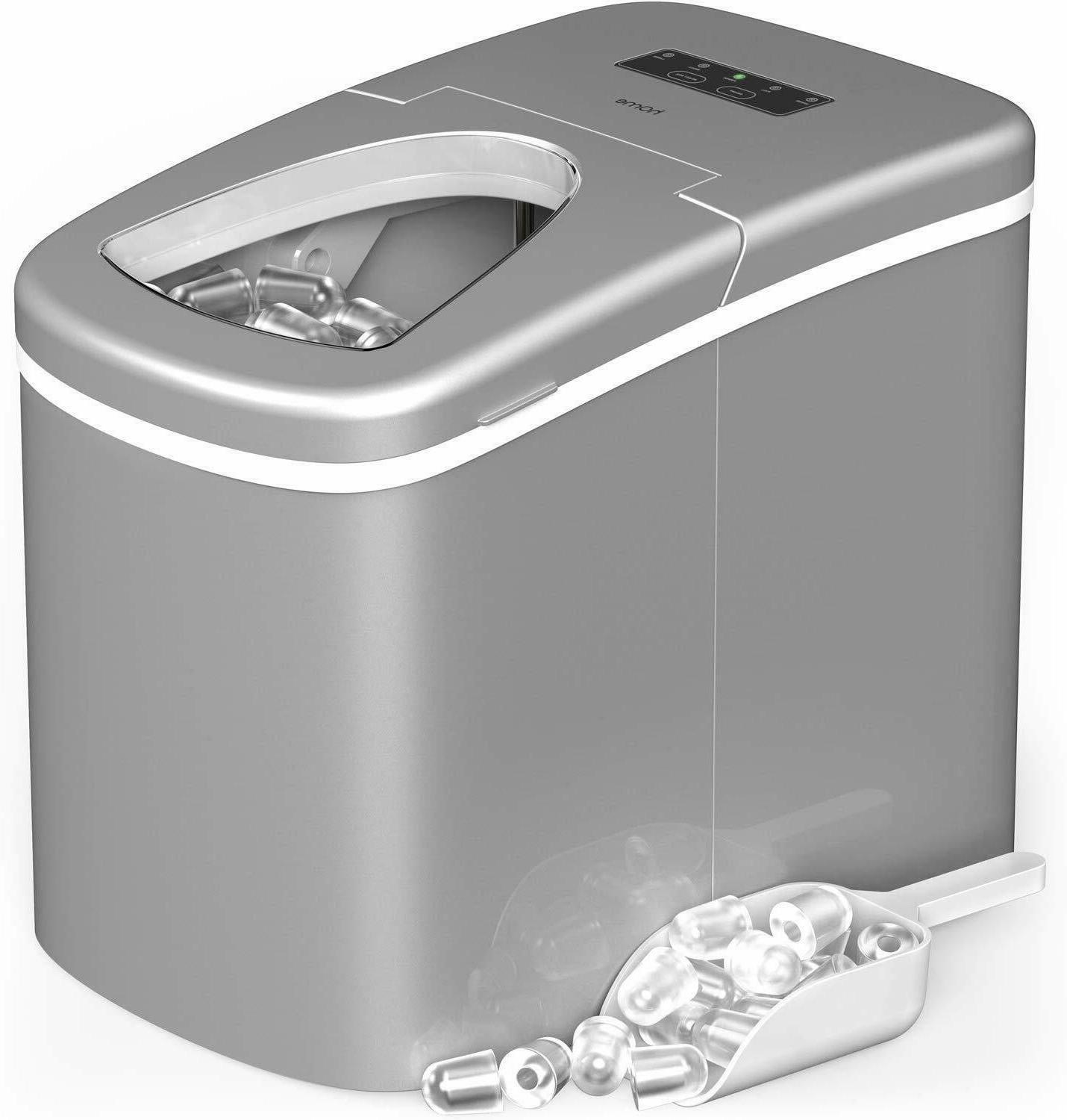 hOmeLabs Portable Ice Maker Machine for Countertop, Ice Cube