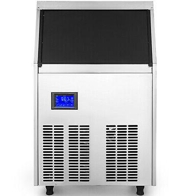 Ice Cube Maker Machine 70Kg//155Lbs 0.9 Cube LCD Control Panel Auto-control
