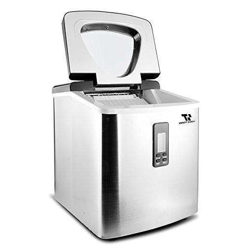 Yongtong Automatic Icemaker Producing 33Lbs per Day - 3 Cube with Easy-Touch & 3.3L Capacity