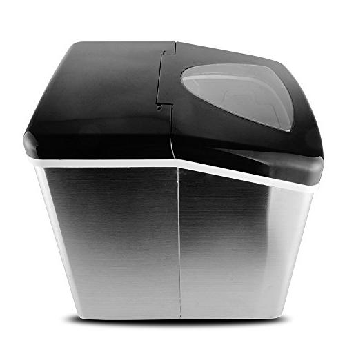 Yongtong Countertop Automatic Icemaker 33Lbs per Day - 3 Selectable with LED 3.3L