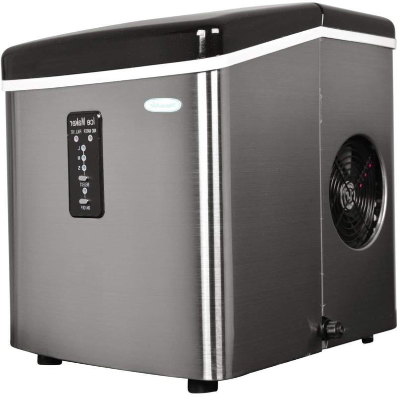 Portable Electric  Ice Maker Stainless Steel Countertop Ice